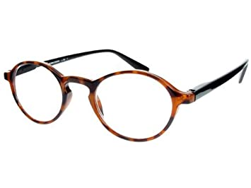 b2492027b4 Image Unavailable. Image not available for. Color  GL2082TT +2.5 Tortoiseshell  Black Richmond Round Reading Glasses ...