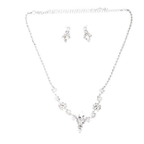 Parure Collier Boucles D'oreilles Bijoux de Mariée