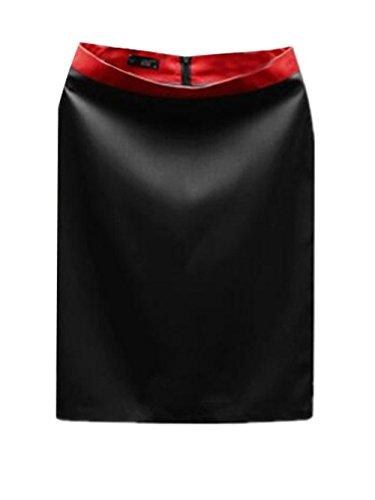 Aoliait Femme Jupe en t Slim Fit Jupe Court Commercial Femelle Jupe Taille Haute Skirt ElGant Jupe Tendance Jupe Black2