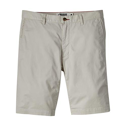 Mountain Khakis Mens Jackson Chino Silm Fit Short: Outdoor Hiking Stretch Shorts, Stone, 35W 10In