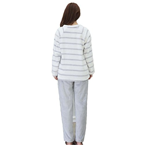 caldo casa l invernale flanella lunga set casual women cardigan tenere manica abbigliamento due pantaloni pezzi Ragazza pigiama MOXIN TIqw1x8E