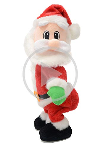 Twerking Santa Claus - Twisted Hip, Singing and Dancing - Funny Electric Plush Toy Christmas Gifts for Kids & Women.