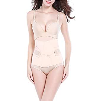 Trendyline Women Postpartum Girdle Corset Recovery Belly Band Wrap Belt Nude Small