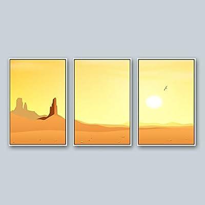 Framed for Living Room Bedroom Scenery Theme for x3 Panels 16