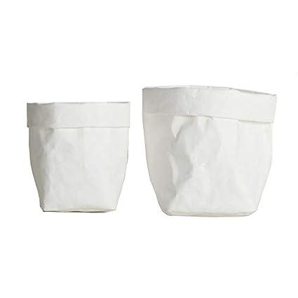 XINJIA - Bolsa de papel kraft reutilizable, lavable ...