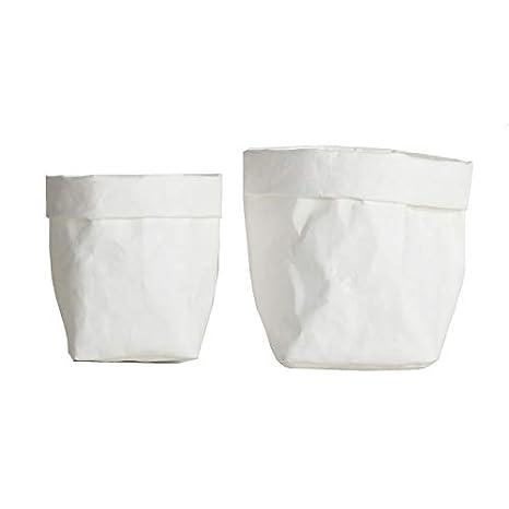 YMCHE Kraft Paper Bag, Washable Multifunction Plant Grow Bags Plant Flowers Pots Home Storage Bag