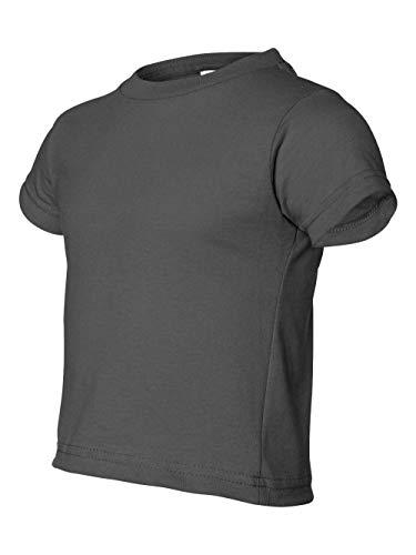 Rabbit Skins boys 5.5 oz. Jersey Short-Sleeve T-Shirt(RS3301)-CHARCOAL-2T ()