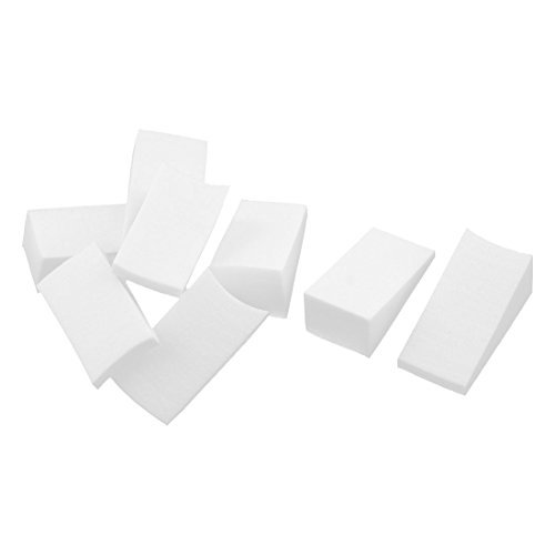 dealmux-gradient-wedge-shape-women-lady-nail-sponge-diy-manicure-art-tool-8-pcs-white