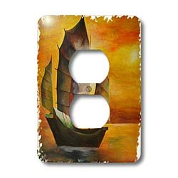 3dRose lsp_63141_6 Chinese Junk Plug Outlet Cover