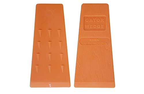 USA Made Gator Wedge 8 Inch Felling Wedges Logging Supplies for Chain Saw, 2 Pack (2, 8