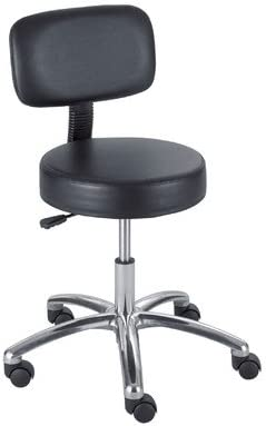 Height Adjustable Lab Stool With Casters Back Included Amazon Co Uk Kitchen Home