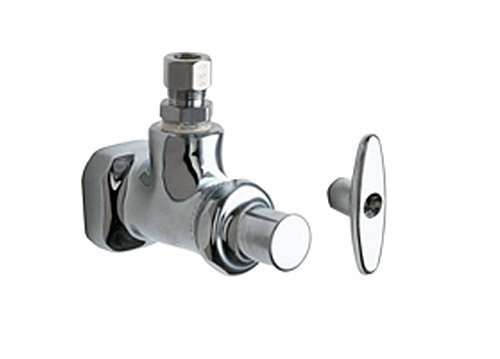 Chicago Faucets 1013-CP Chrome Plated 1/2 x 3/8 Angle Stop Fitting - Eljer Flush