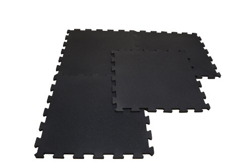 Body Solid 4 Piece Puzzle Mat (Black)