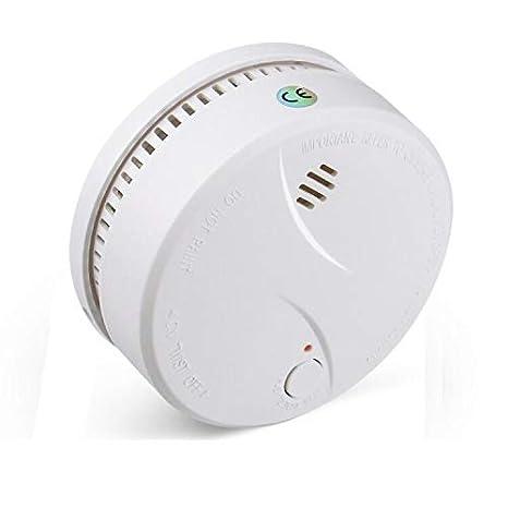 Alarma de incendio inalámbrica para batería reemplazable de red doméstica Qoosea alarma de incendio doméstica de cocina Detección de humo Alarm-625PHS: ...
