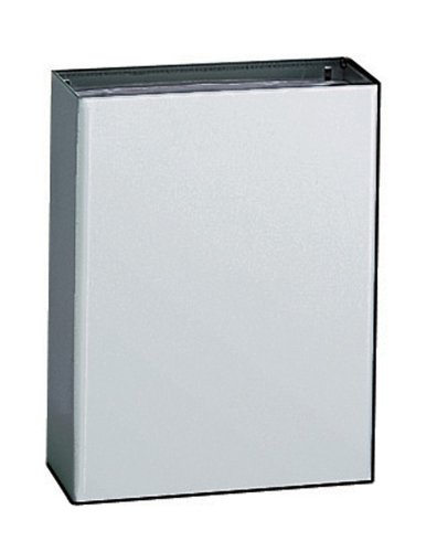 - Bobrick 279 ConturaSeries 304 Stainless Steel Surface Mounted Waste Receptacle, Satin Finish, 6.4 gallon Capacity, 14