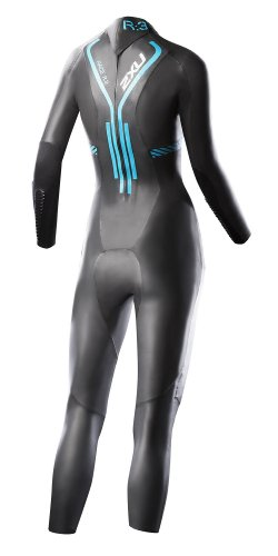 2XU Women's R:3 Race Triathlon Wetsuit (Black/Bondi Blue)