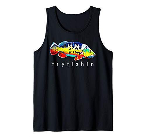 TryFishin Peacock Bass Fishing Tank Top