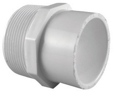"Lasco Garden Hose Adapter 3/4 "" X 1/2 "" White Pvc Schedule 40"
