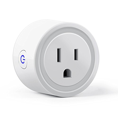 Tenswall Wi-Fi Smart Plug Mini Outlet with Energy Monitoring, Compatible with Alexa Echo and Google Assistant, No Hub Required, ETL Listed, White