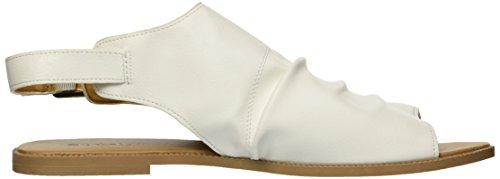 Women's White Sandal Mule Qupid Flat fOdqUWx