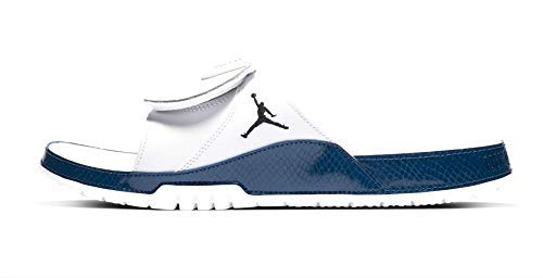 Jordan Nike Men's Hydro XI Retro Slide White/Blue AA1336-102 (Size: 9) (Jordan Sandalias)