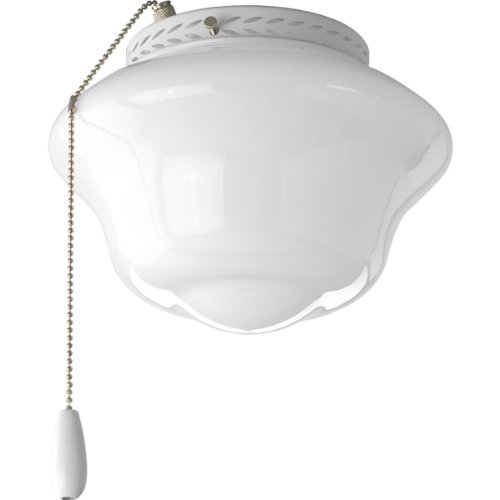 Progress Lighting P2644-30 Schoolhouse Universal Indoor Fan Light Kit, White