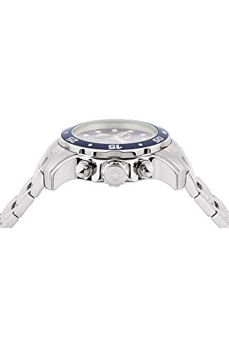 Invicta Men 0070 Pro Diver Collection Analog Chinese Quartz Chronograh SilverToneBlue Stainless