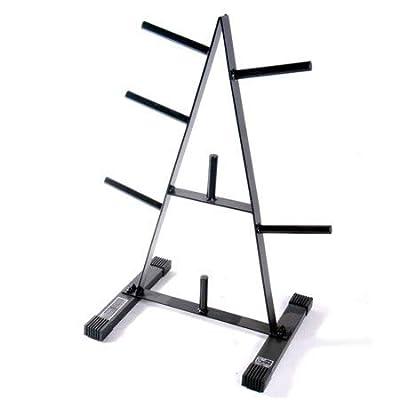 CAP Barbell' 500 lbs Weight Capacity 1-Inch Standard Plate Rack in Black