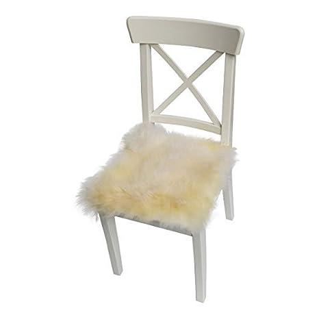 Lambskin - SEAT PAD / CHAIR CUSHION 40 x 40 cm - champagne