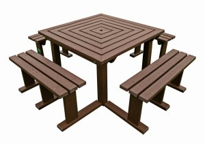 Cool Adult Octobrunch Square Picnic Bench Table Seat Weatherproof Gmtry Best Dining Table And Chair Ideas Images Gmtryco