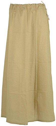 Sari Petticoat Stitched Saree Petticoat Adjustable Waist Sari Skirt (Gold/Mustard)