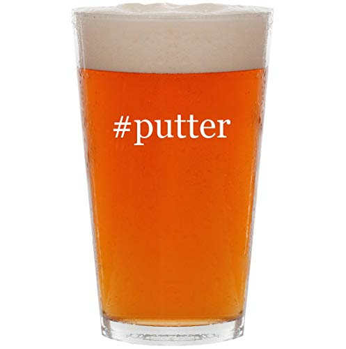 #putter - 16oz Hashtag All Purpose Pint Beer Glass (Jade Golf Putter)