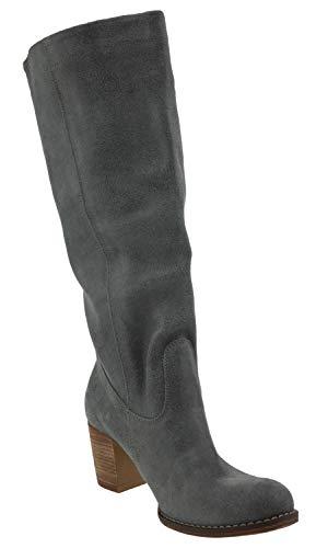 Pelle Stivali Zapato Grigio In 154 Colore F81n4t1