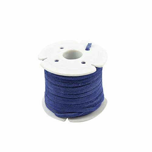 Cobalt Blue 3mm Leather Lace Spool Jewelry Making Thread 25 Yd Suede Roll ()