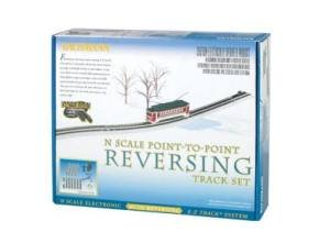 Bachmann Industries E-Z Track Nickel Silver E-Z Track Auto-Reversing System N Scale from Bachmann Trains