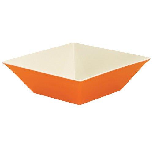 - Siciliano ML-249-ST Square Bowl, 12.8 quart, Orange/Ivory (Pack of 3)