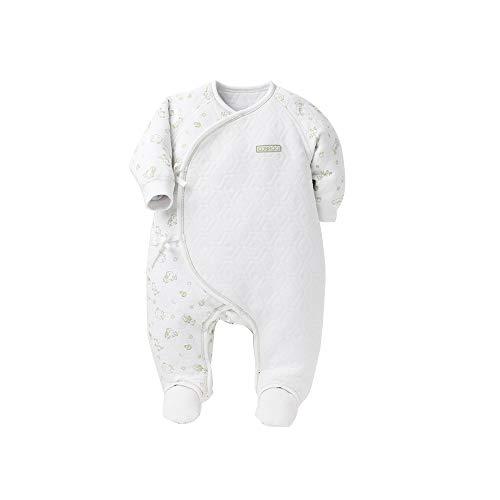 100/% Cotton Long Sleeve Side Ties Shirt and Essential Footed Pants COBROO 0-3 Months Baby 2-Piece Kimono Tee Pants Pajamas Set