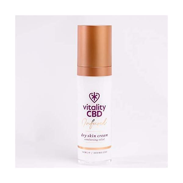 Vitality CBD Infused Dry Skin Cream, 200mg cannabidiol, 50ml