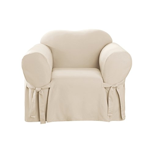 SureFit Cotton Duck - Chair Slipcover  - Natural (SF26806) (Barn Pottery Style Chair)