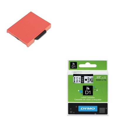 KITDYM41913USSP5470RD - Value Kit - Dymo D1 Standard Tape Cartridge for Dymo Label Makers (DYM41913) and U. S. Stamp Sign T5470 Dater Replacement Ink Pad (USSP5470RD)