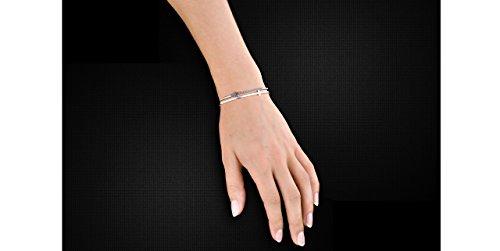 Lui de Clio Bracelet manchette CrossMan en argent 925 rhodié noir, 14.35g, Ø65mm
