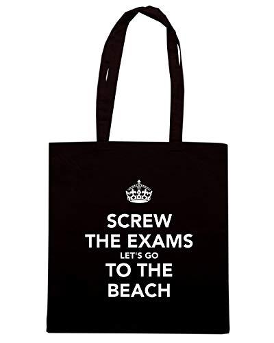 Shirt Nera Borsa THE BEACH GO THE TKC1083 SCREW EXAMS Speed Shopper TO LET'S dSRZFF