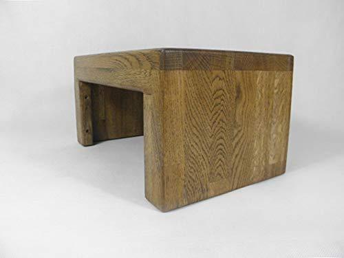 Holzbank Fussbank Hocker Massivholz Eiche Rustikal Amazon De Handmade