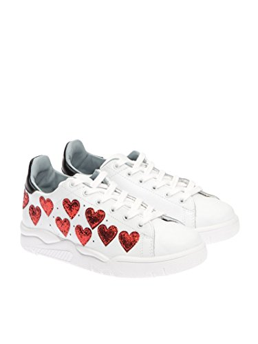Chiara Ferragni Sneakers Donna CF1570 Pelle Bianco/Rosso