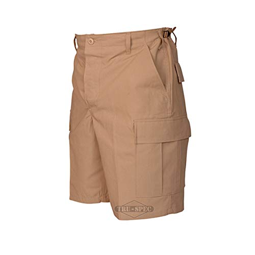 Tru-Spec 100% Cotton Rip-Stop BDU Shorts Khaki Small