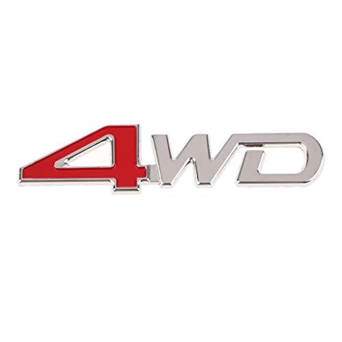 Homyl Universal Car SUV Body Fender Trunk Zinc Alloy 3D ''4WD''Logo Sticker by Homyl (Image #3)