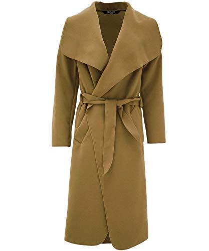 surdimensionn Manteau 40 femmes KARDASHIAN ceinture KIM 14 36 Avec Chute pour Camel Taille neuf d'eau 38 I5wzt