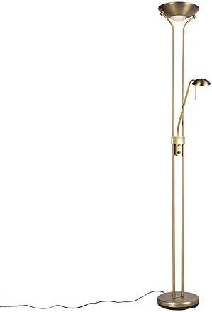 Qazqa Modern Bronze Stehleuchte Stehlampe Standleuchte Lampe