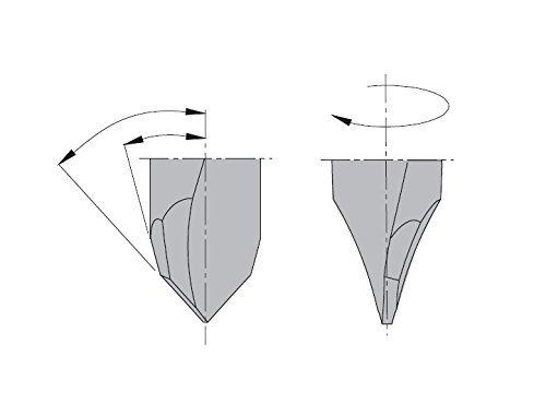 5mm Diameter Left-Hand Rotation 10x26mm Shank CMT 314.050.12 2 Flute Dowel Drill for Through Holes 13//64-Inch