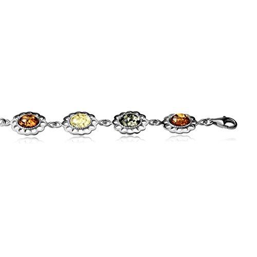 Noda Bague Ovale Fleur en argent sterling Bracelet 20cm